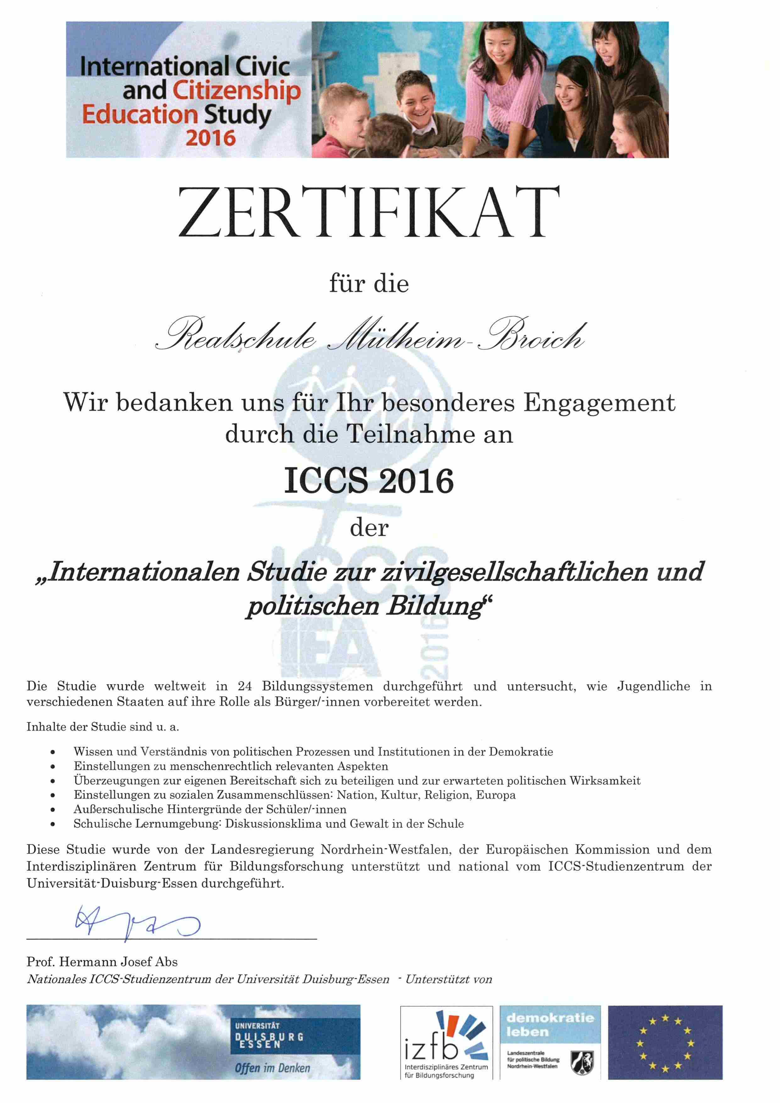 Zertifikat Politisches Wissen16