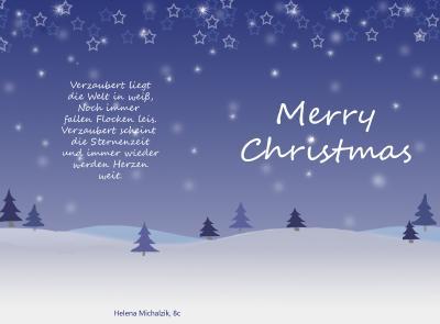 Weihnachtskarte Helena Michalzik 8c