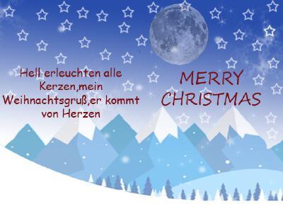 Weihnachtskarte Jill 8c