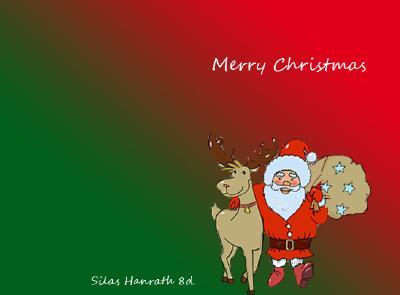 Weihnachtskarte Silas Hanrath 8d