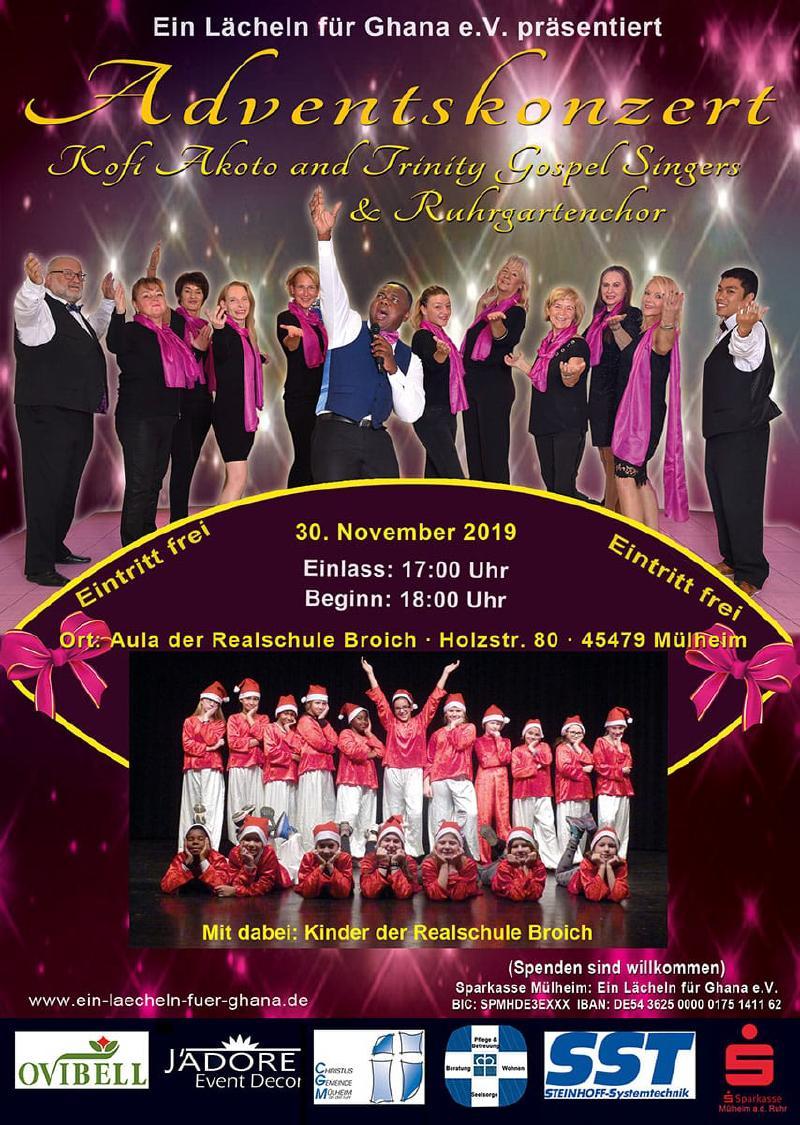 Plakat Ein Lcheln fr Ghana Konzert 30112019