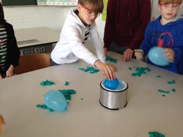 ballon in stickstoff
