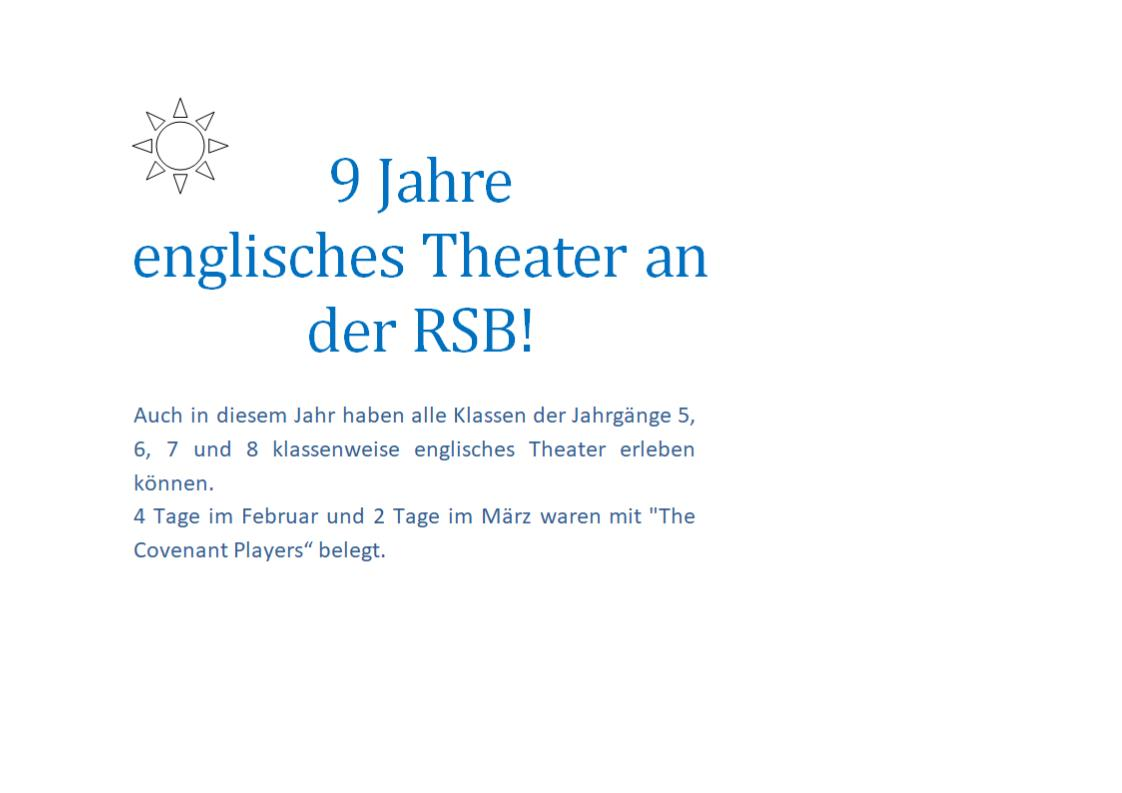 englisches theater